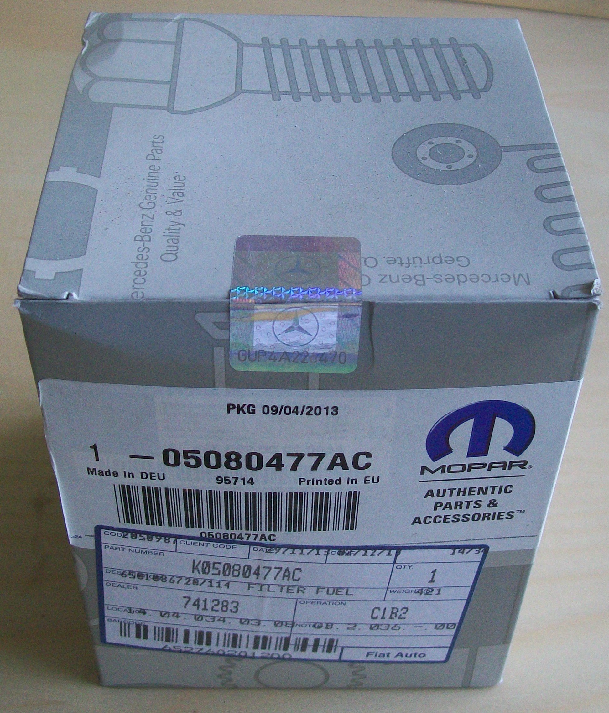 05080477ac Genuine Oem Mopar Fuel Filter Jeep Grand Cherokee 27 Crd 2001 2005 5080477ac